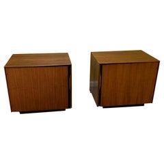 Pair of Midcentury John Kapel Walnut Side Tables or Nightstands for Glenn of CA