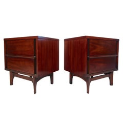 Pair of Midcentury Kent Coffey Predicta Nightstands