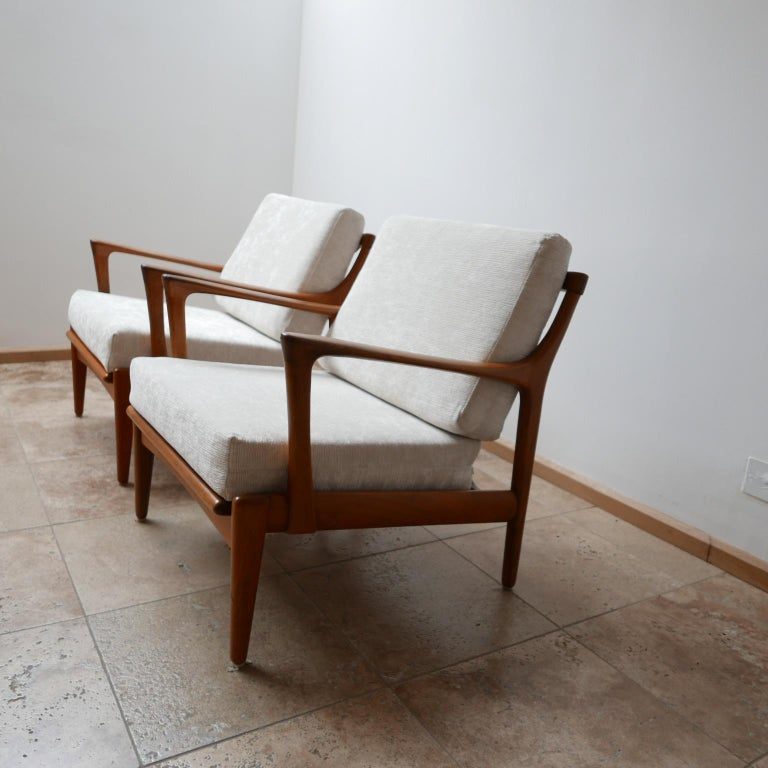 "Swedish Pair of Midcentury ""Kuba"" Armchairs by Bertil Fridhagen For Sale"