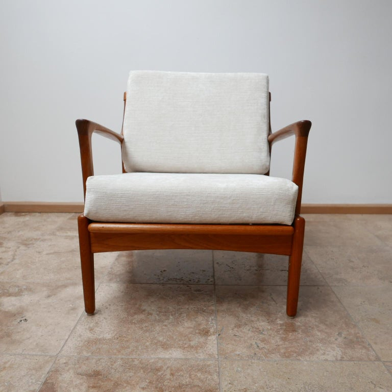 "Mid-20th Century Pair of Midcentury ""Kuba"" Armchairs by Bertil Fridhagen For Sale"