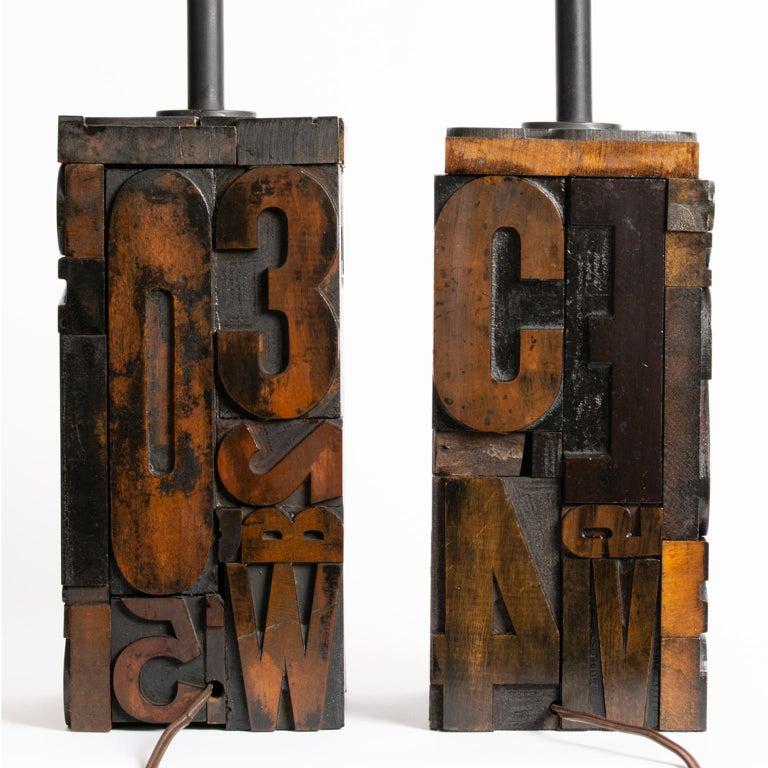 Pair of Midcentury Letterpress