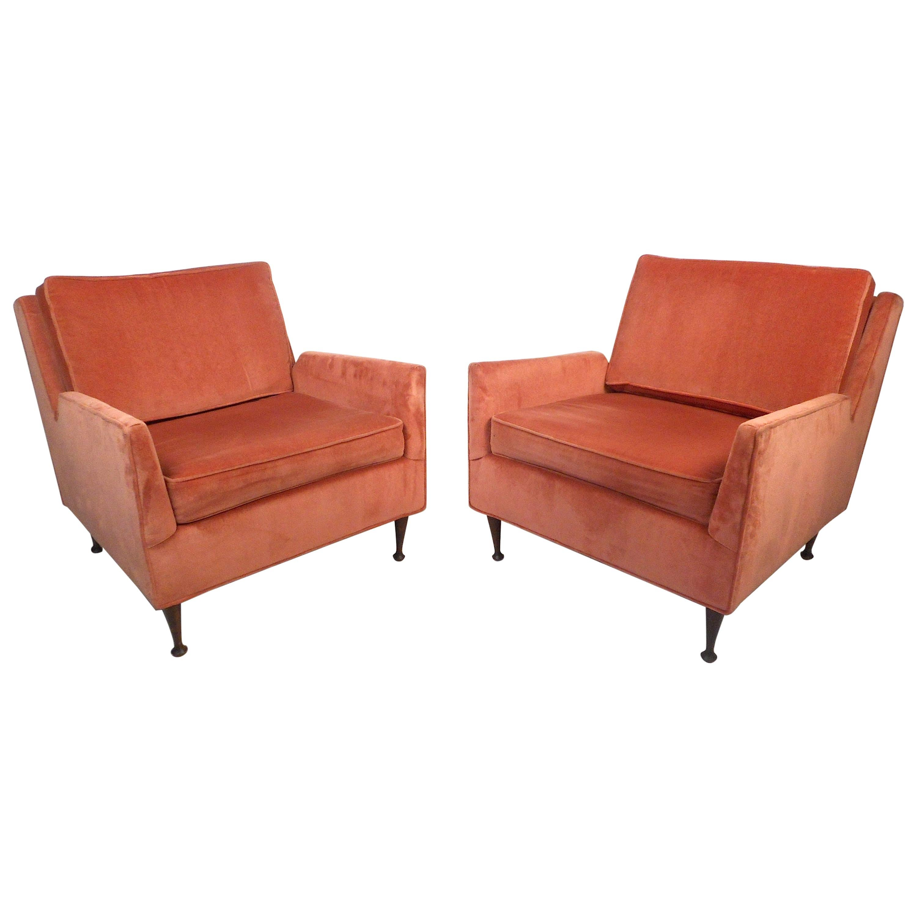 Pair of Midcentury Lounge Chairs after McCobb