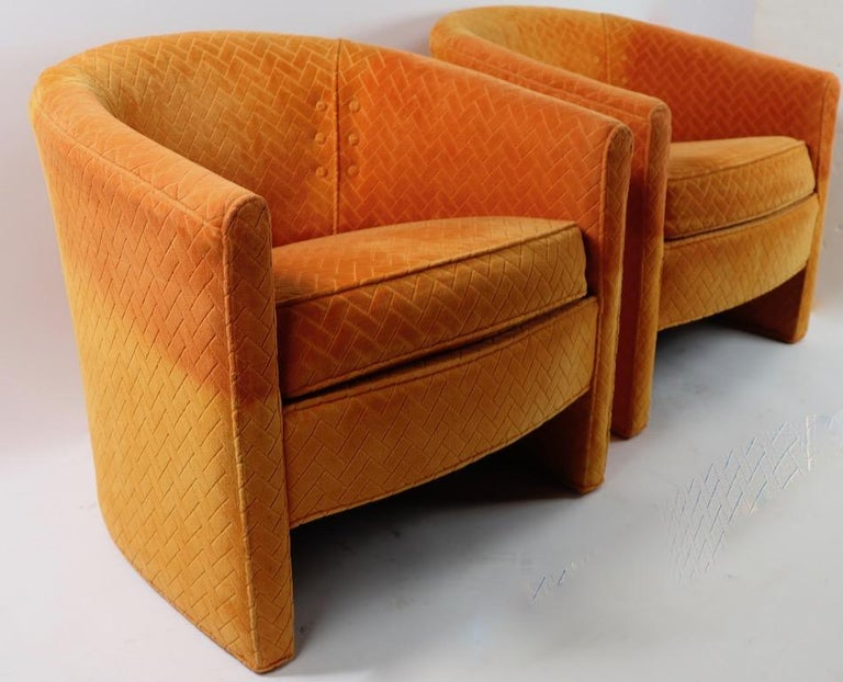 Pair of Mid Century Lounge Chairs by Century Furniture For Sale 1