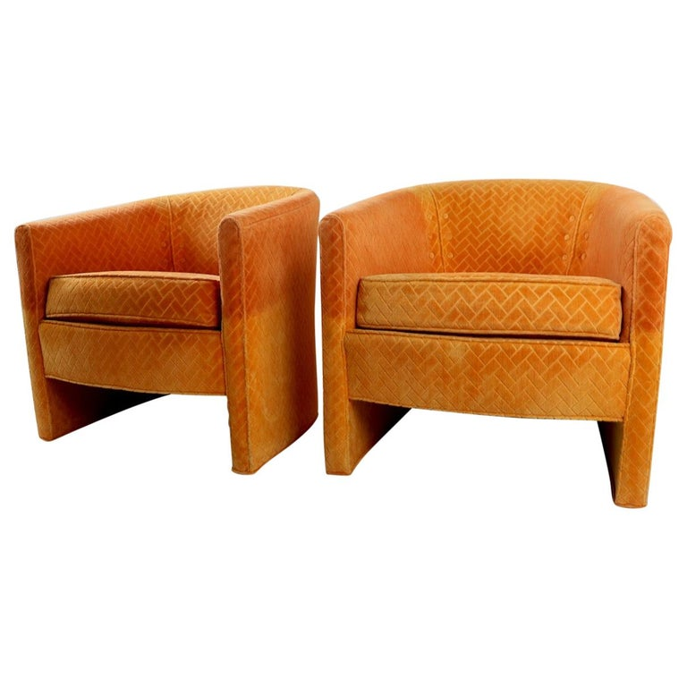 Pair of Mid Century Lounge Chairs by Century Furniture For Sale