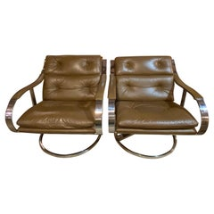 Pair of Mid-Century Lounge Chairs by Gardner Leaver for Steelcase
