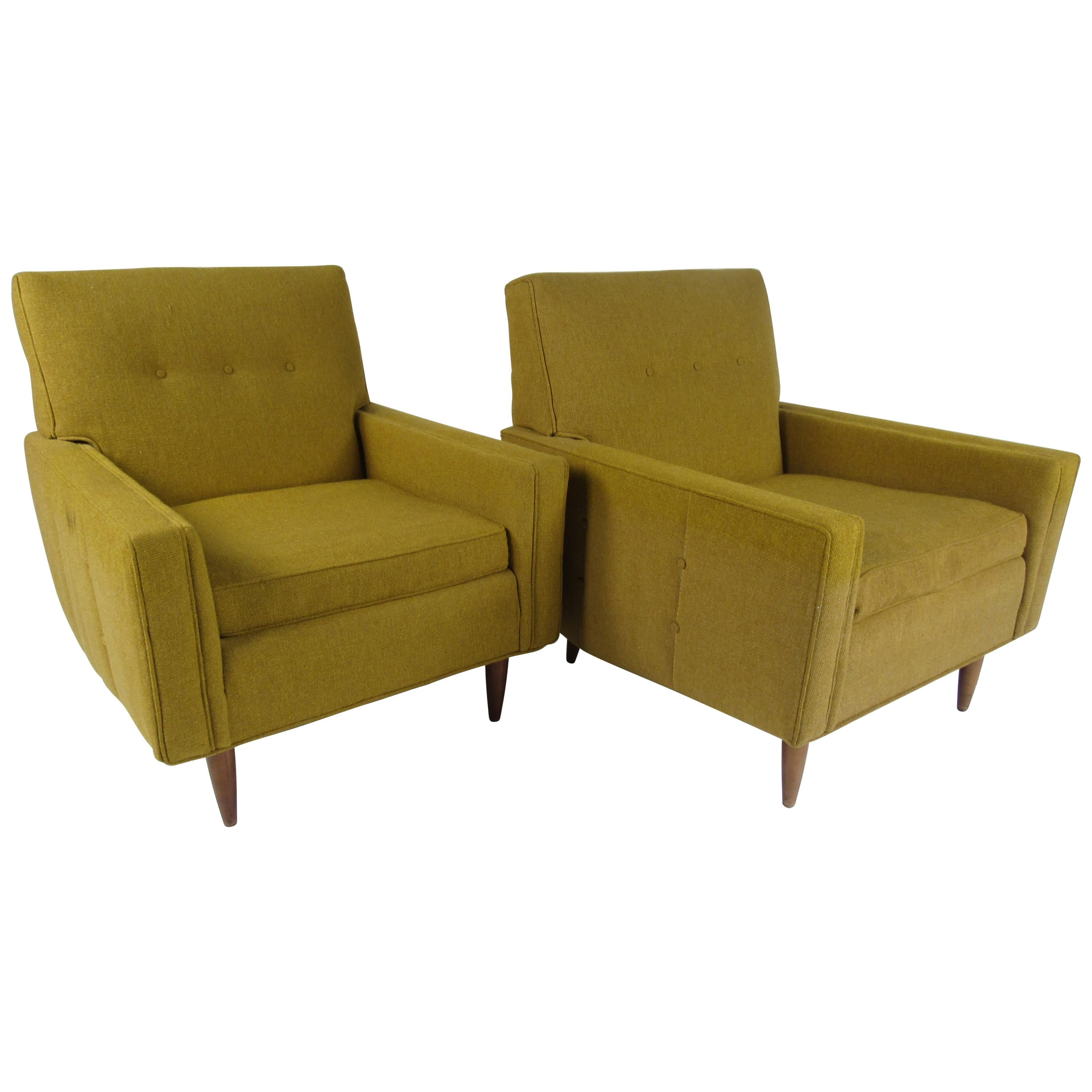 Pair of Midcentury Lounge Chairs by Rowe
