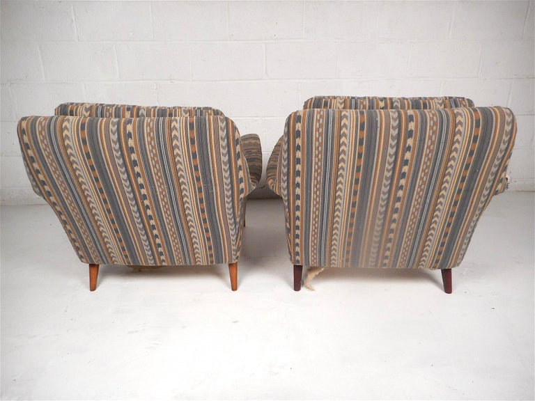Upholstery Pair of Midcentury Lounge Chairs For Sale