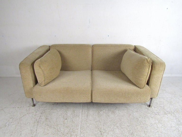 Pair of Midcentury Loveseats by Robert Haussmann In Good Condition For Sale In Brooklyn, NY