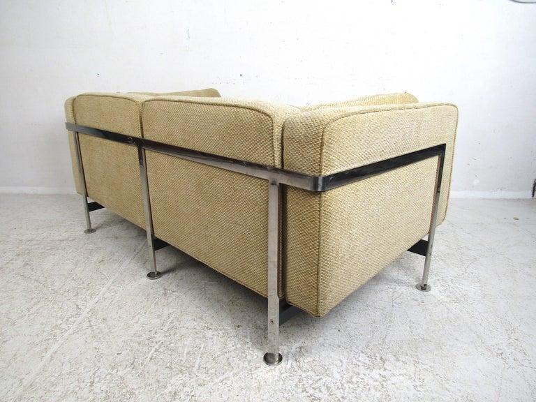Steel Pair of Midcentury Loveseats by Robert Haussmann For Sale