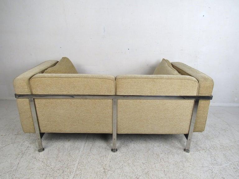 Pair of Midcentury Loveseats by Robert Haussmann For Sale 1