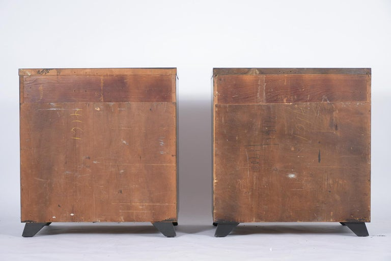 Pair of Mid-Century Mahogany Chest of Drawers For Sale 5