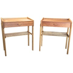 Pair of Midcentury Maple Wood End Tables