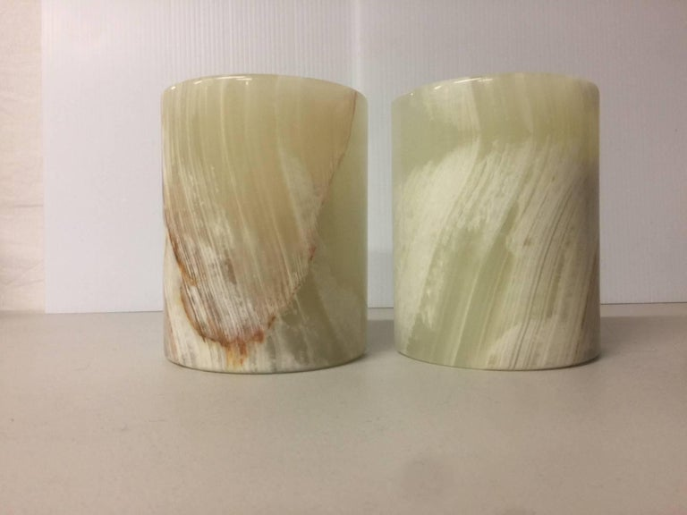 Substantial pair of marble bookends, circa 1970s.