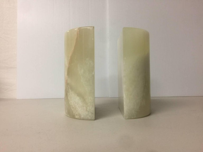 Mid-Century Modern Pair of Midcentury Marble Bookends For Sale