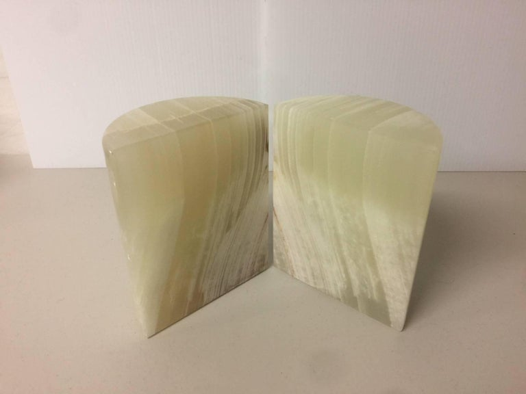 Pakistani Pair of Midcentury Marble Bookends For Sale