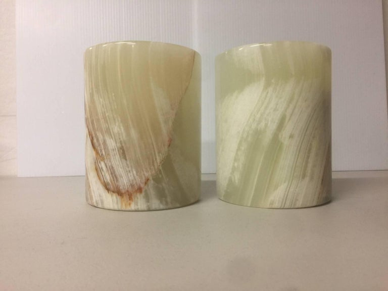 Pair of Midcentury Marble Bookends In Excellent Condition For Sale In San Diego, CA
