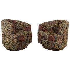 Pair of Midcentury Milo Baughman Swivel Chairs for Thayer Coggin