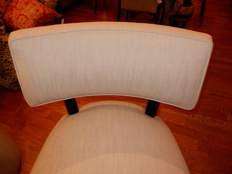 Pair of Midcentury Mitchell Gold Side Chairs / Slipper Chairs 2