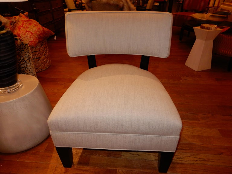 Pair of Midcentury Mitchell Gold Side Chairs / Slipper Chairs 4