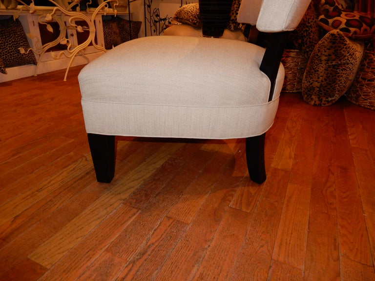Pair of Midcentury Mitchell Gold Side Chairs / Slipper Chairs In Excellent Condition In Bellport, NY