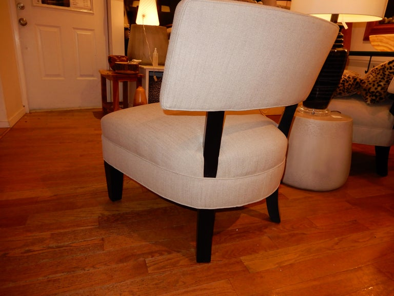 20th Century Pair of Midcentury Mitchell Gold Side Chairs / Slipper Chairs