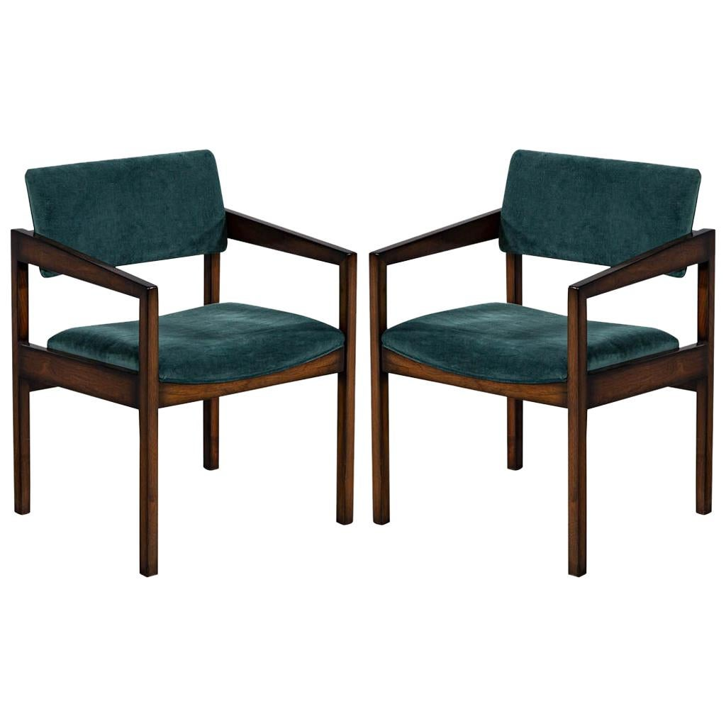 Pair of Mid-Century Modern Accent Armchairs