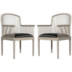 Pair of Mid-Century Modern Accent Armchairs Knoll Studio by Davis Allen