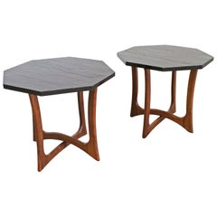 Pair of Mid-Century Modern Adrian Pearsall Sculptural Slate End Tables
