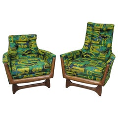 Pair of Mid-Century Modern Adrian Pearsall Style His & Her Lounge Chairs
