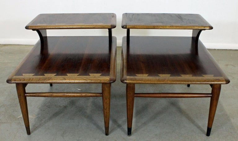 Pair Of Mid Century Modern Andre Bus Lane Acclaim 2 Tier End Tables
