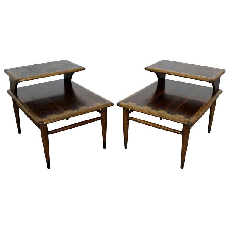 Paar 2 Stufige Beistelltische Von Andre Bus Fur Lane Furniture Mid