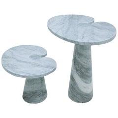 Pair of Mid-Century Modern Angelo Mangiarotti Eros Series Side Tables