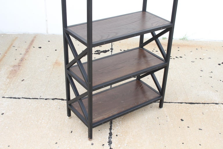 Pair of Mid-Century Modern Architectural X-Form Bookcases or Étagères For Sale 5