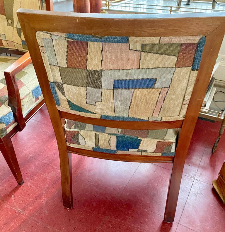 Pair of Mid-Century Modern Armchairs In Good Condition In Great Barrington, MA