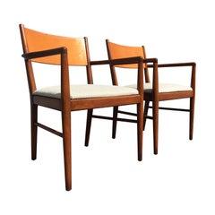 Pair of Mid-Century Modern Armchairs in the Style of Finn Juhl