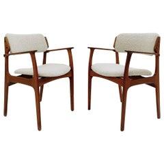 Pair of Mid-Century Modern Armchairs by Erik Buch, 1960s