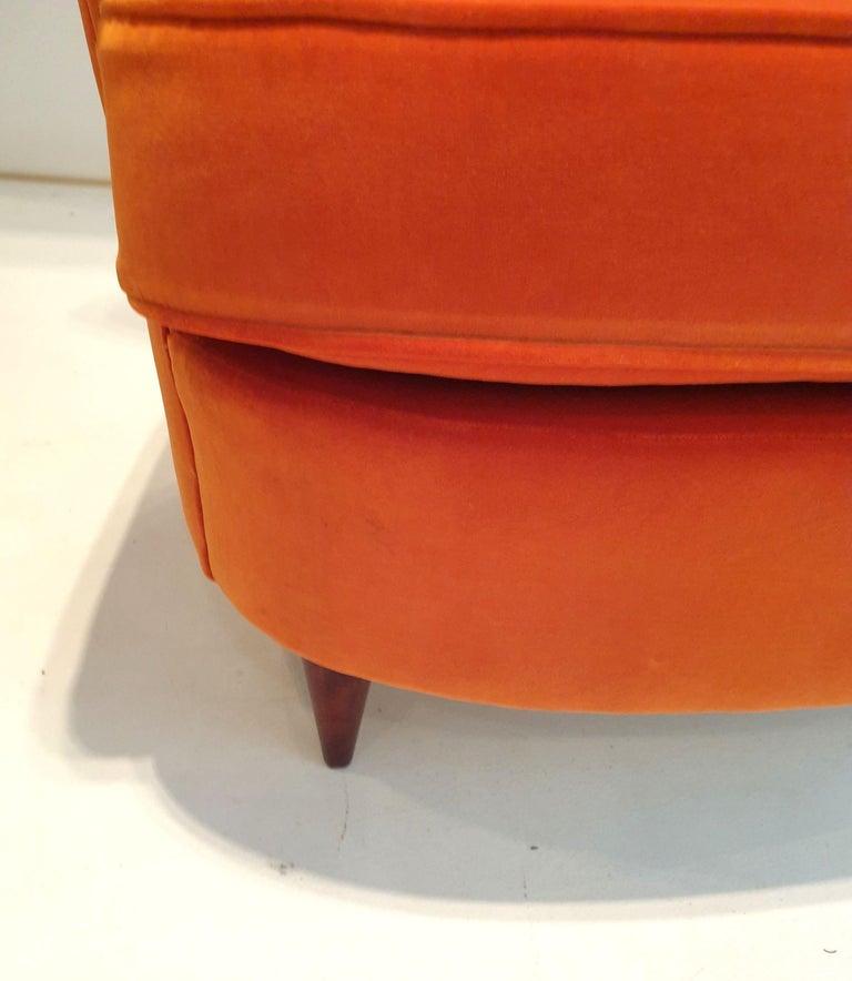 Italian Pair of Mid-Century Modern Armchairs by Renato Angeli and Claudio Luigi For Sale