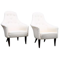 Pair of Mid-Century Modern Armchairs Designed by Kerstin Hörlin-Holmquist