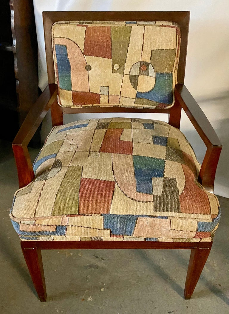 Pair of Mid-Century Modern Armchairs In Good Condition For Sale In Great Barrington, MA