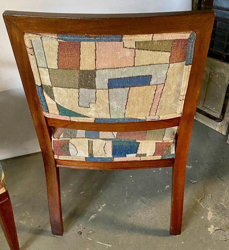 Wood Pair of Mid-Century Modern Armchairs For Sale