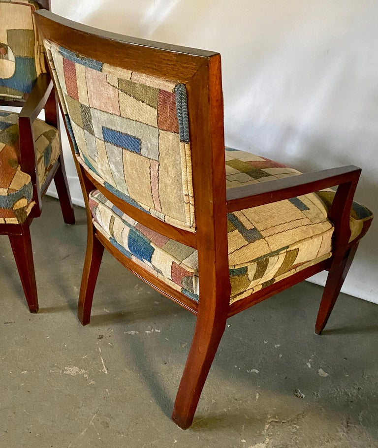 Pair of Mid-Century Modern Armchairs For Sale 1