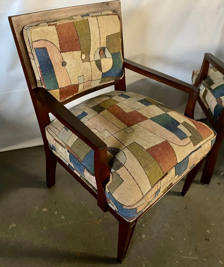 Pair of Mid-Century Modern Armchairs For Sale 2