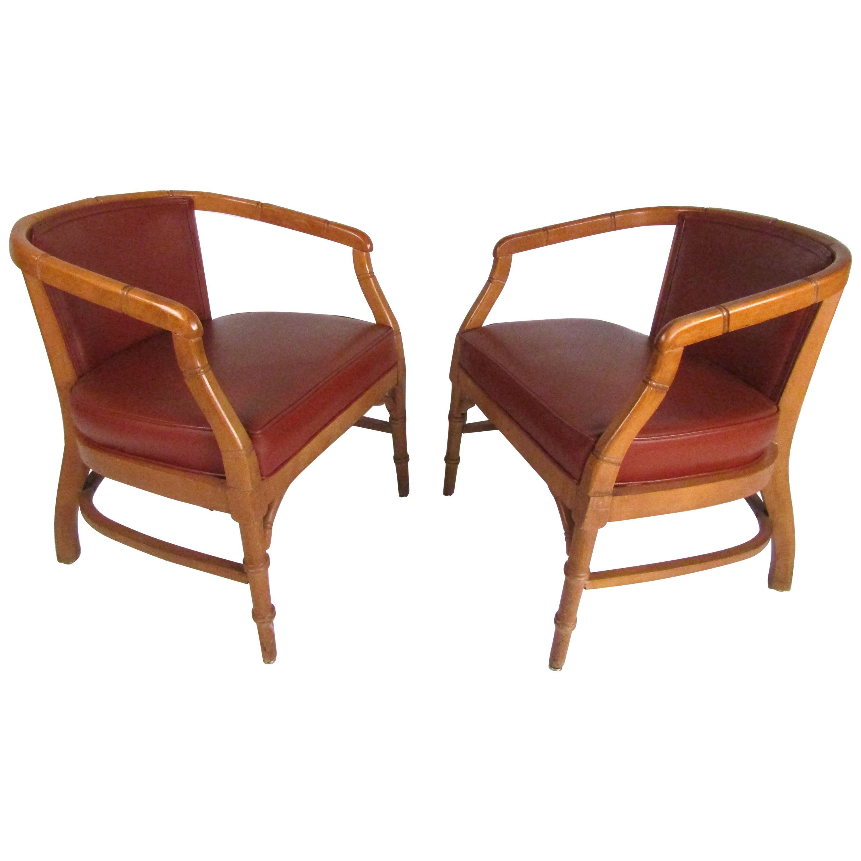 Pair of Mid-Century Modern Armchairs