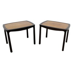 Pair of Mid-Century Modern Asian Edward Wormley for Dunbar Rosewood End Tables