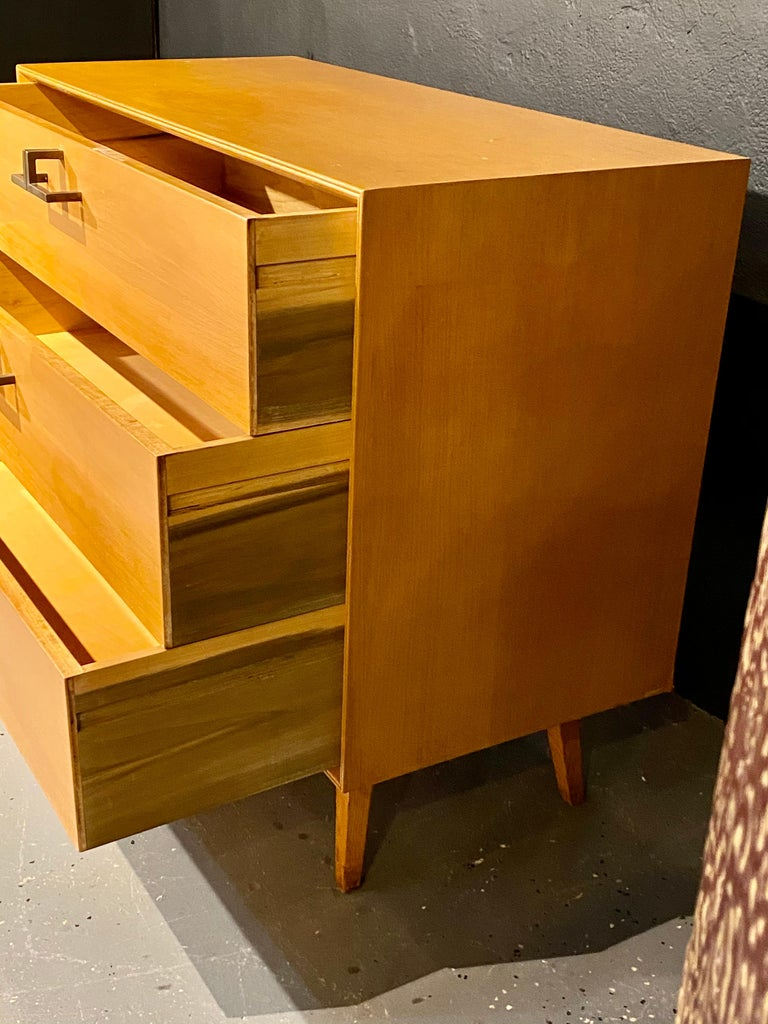 Pair of Mid-Century Modern Bachelor Chest, Commodes or Dressers For Sale 8
