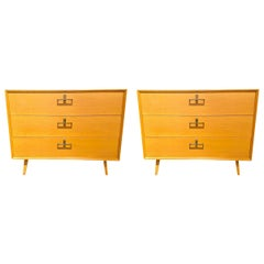 Pair of Mid-Century Modern Bachelor Chest, Commodes or Dressers