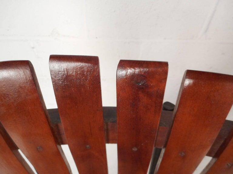 Pair of Mid-Century Modern Bar Swivel Stools by Arthur Umanoff For Sale 1