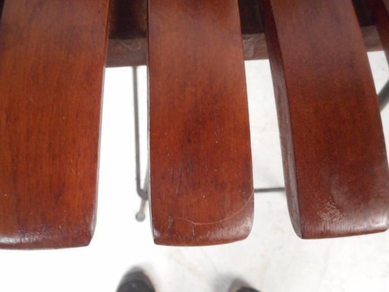 Pair of Mid-Century Modern Bar Swivel Stools by Arthur Umanoff For Sale 3