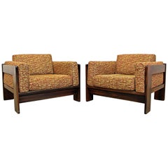 Pair of Mid-Century Modern Bastiano Rosewood Knoll Club Chairs