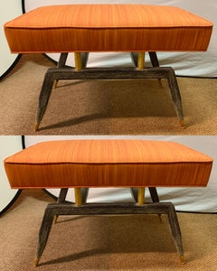 Pair of Mid Century Modern Benches